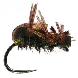 Brown Foam Beetle - Barbless - Stillwater Trout Dry Flies