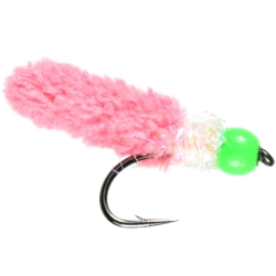 Pink Wotsit Beaded Nymph - Weighted Trout Flies