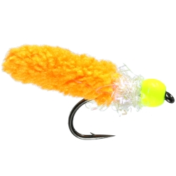Orange Wotsit Beaded Nymph - Weighted Trout Flies