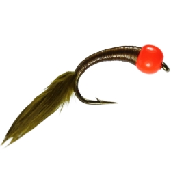 Olive Bungee Buzzer - Trout Weighted Nymph Flies