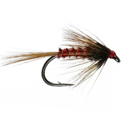 Red Nemo Cruncher - Unweighted Nymph Trout Flies