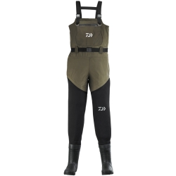 Daiwa Hybrid Bootfoot Chest Wader - Neoprene Breathable Fishing Waders