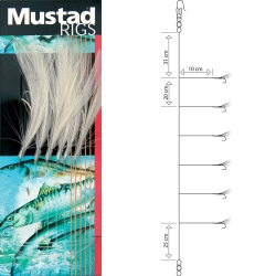 Mustad Mackerel Feather White