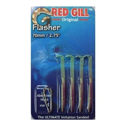 Red Gill Flasher Sandeel - Fishing Lures