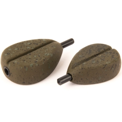 Fox Camotex In-Line Flat Pear Leads - Coarse Fishing Weights