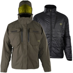 Hodgman Aesis 3 in 1 Jacket - Waterproof Breathable Fishing Coat
