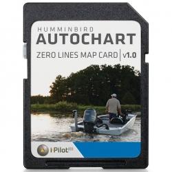 Humminbird Zero Lines Map Card - AutoChart Software SD Card