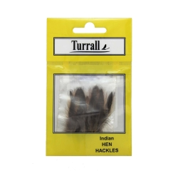 Turrall Select Indian Hen Hackles Feathers - Wet Trout Fly Tying