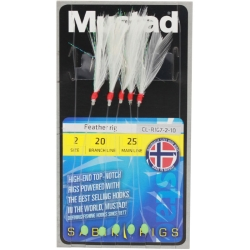 Mustad Feather Sabiki Rigs - Sea Fishing Lures Traces Hooks