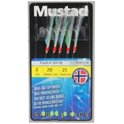 Mustad Flash-a-Boo Sabiki Rigs - Sea Fishing Lures Traces Hooks