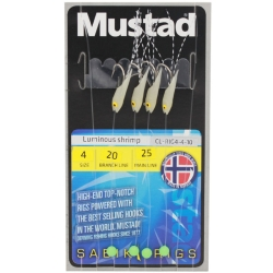 Mustad Luminous Shrimp Sabiki Rigs - Sea Fishing Lures Traces Hooks