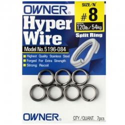 Owner Hyper Wire Heavy Duty Split Rings - Fishing Tackle
