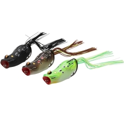 Savage Gear 3D Popper Frog - Top Water Surface Soft Lures
