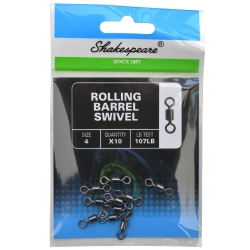 Shakespeare Rolling Barrel Swivels - Fishing Tackle