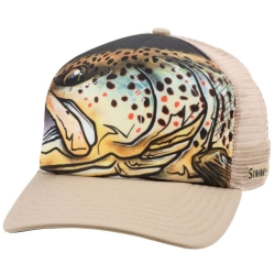 Simms Artist Series Five Panel Trucker Hat - Baseball Fishing Caps